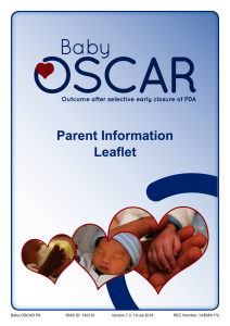 Baby-OSCAR Parent Information Leaflet. Thumbnail preview of the file.